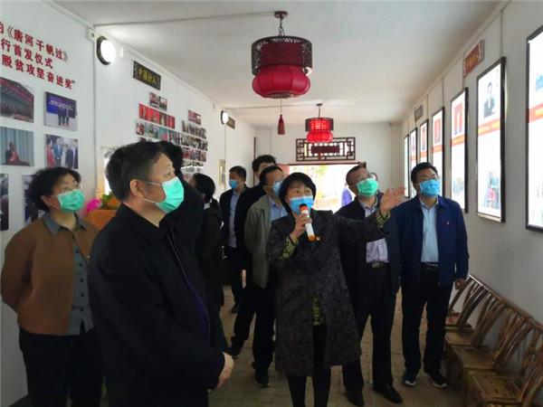 省政协副主席李英杰到唐河县城郊乡调研脱贫攻坚工作