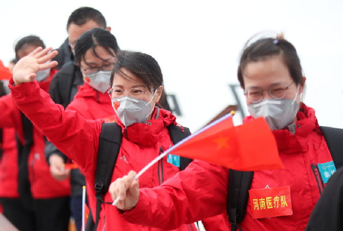 """河南支援湖北医疗队1281名队员全部平安回家 武汉战""""疫""""任务圆满完成"""
