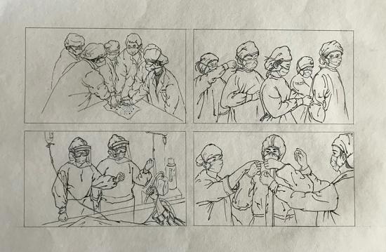 """以我之笔,绘您英姿——郑州高新区实验小学战""""疫""""绘画作品展"""