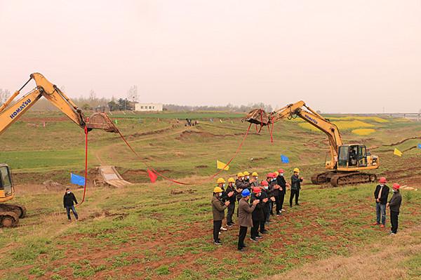 邓州一橡胶坝拦蓄水利项目开工建设