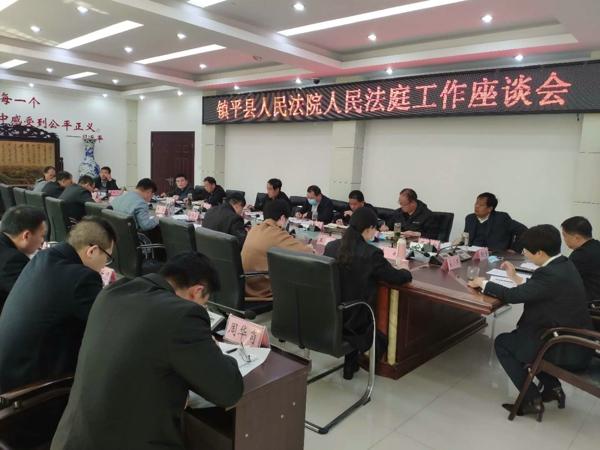 镇平法院召开人民法庭工作座谈会