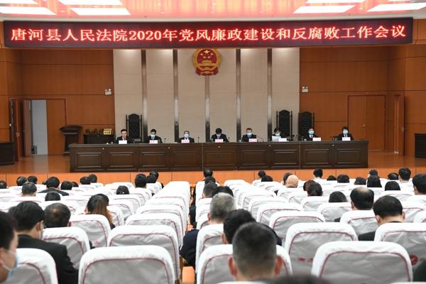 唐河县人民法院召开2020年党风廉政建设和反腐败工作会议