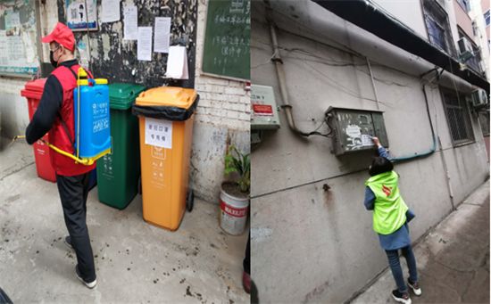 """【社区战""""疫""""】郑州南阳路街道丰乐社区开展环境卫生整治 助力疫情防控"""