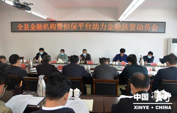 新野县召开金融机构暨担保平台助力金融扶贫动员会