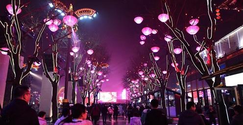 """西安:突出文化特色 创新打造现代""""大唐不夜城"""""""