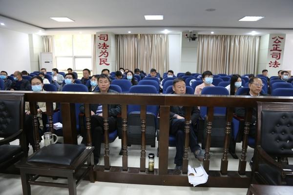镇平县法院:开展庭审观摩 提升审判质效