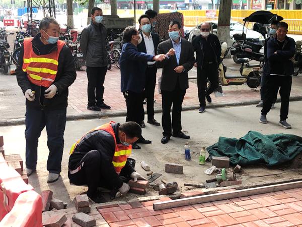 漯河市管人行道1.8万余平方修补有序推进 已完成七成