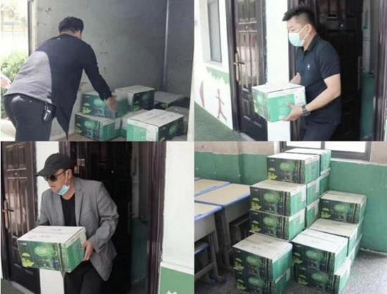 郑州聚合缘新材料公司捐赠防疫物资 助力兰考师生健康复学
