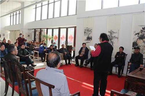 著名画家李德君先生在郑州举办收徒仪式