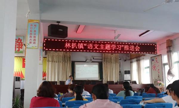 邓州市林扒一初中举行语文主题学习会