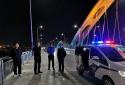 邓州城市管理警察大队誓让彩虹桥更加畅亮了