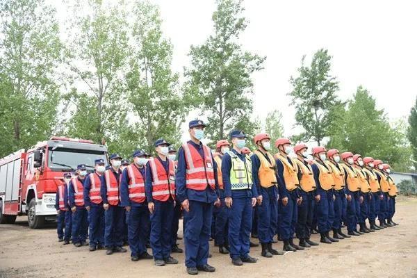 南阳消防救援支队组织开展抗洪抢险拉动集结