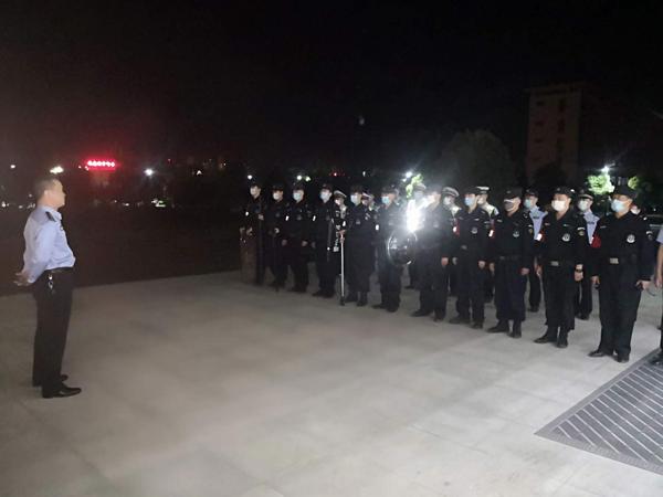 社旗县公安局组织开展夜间集结应急演练