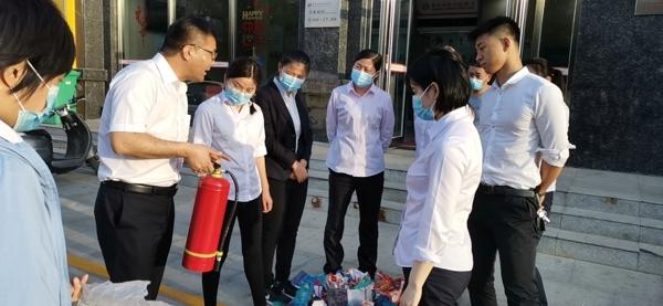 新郑郑银村镇银行:开展消防安全演练活动