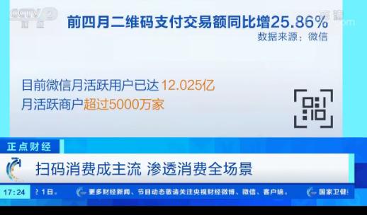 """微信""""码上经济""""日交易笔数达10亿 推动全面数字化转型"""