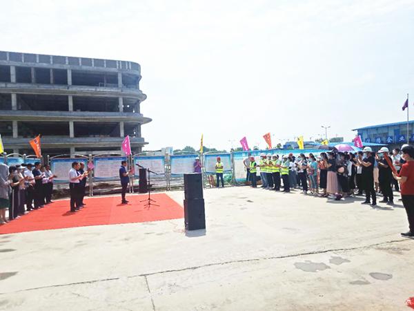 邓州市妇幼保健院整体迁建一期主体工程顺利竣工