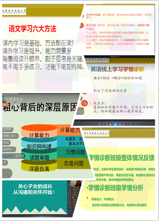 线上诊断明学情 家校携手再出发——郑州高新区外国语小学线上家长会