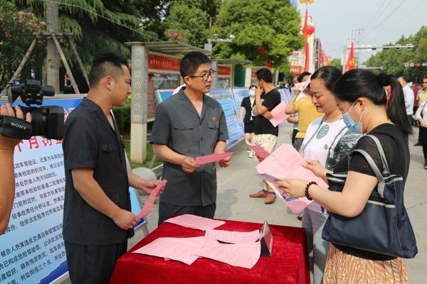 镇平县法院积极参与全县酒驾醉驾专项治理法治宣传活动