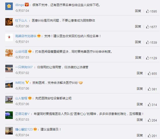 天津拟将医闹纳入失信人员名单 网友:其他省市出来抄作业 谢谢