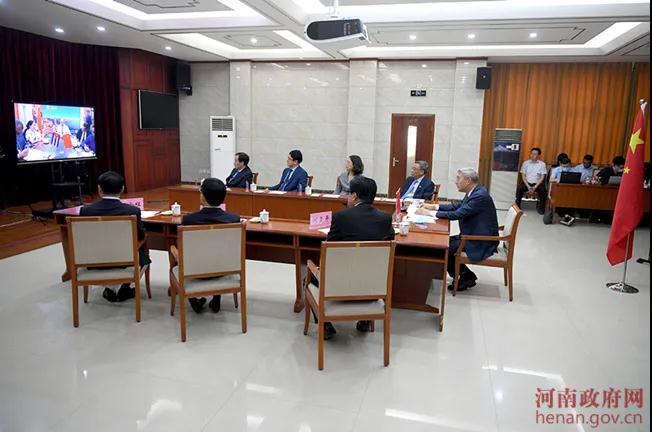 河南省与古巴加强国际合作视频对话会举行 尹弘与古巴驻华大使对话