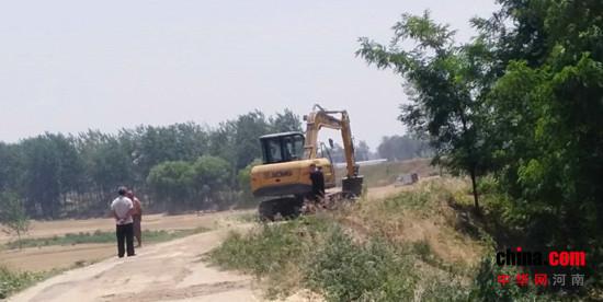 汝南县王岗镇开展河湖破堤种植及非法围垦行为专项整治活动