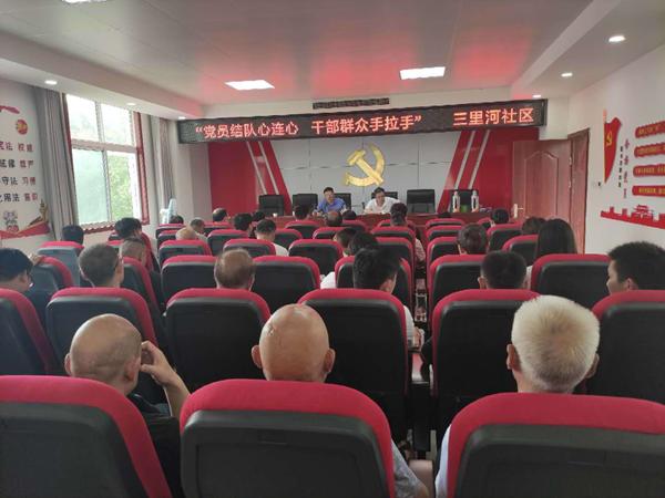 邓州市湍河街道党日活动别样红