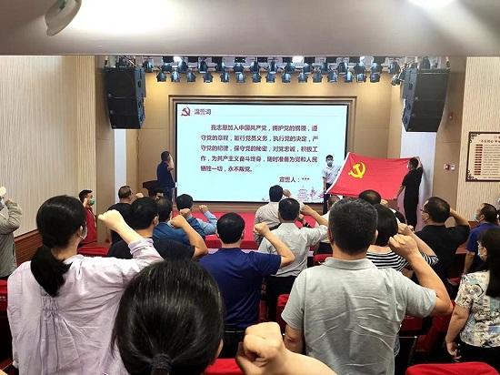 郑州市委统战部党员干部赴郑州圆方集团开展主题党日活动