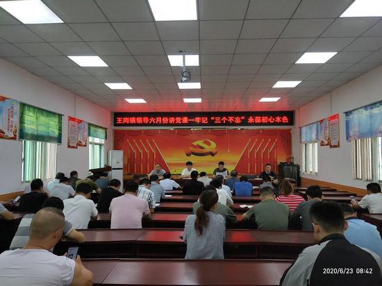 """汝南县王岗镇党委书记""""七一""""前夕讲党课"""