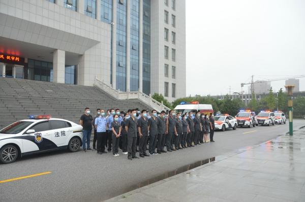 新野法院:端午节前忙执行 风雨无阻保民生