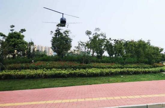 遂平县组织开展飞机防治林业有害生物工作