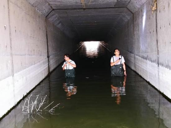 双脚踏出的安全堤——南水北调新郑管理处雨中排查侧记
