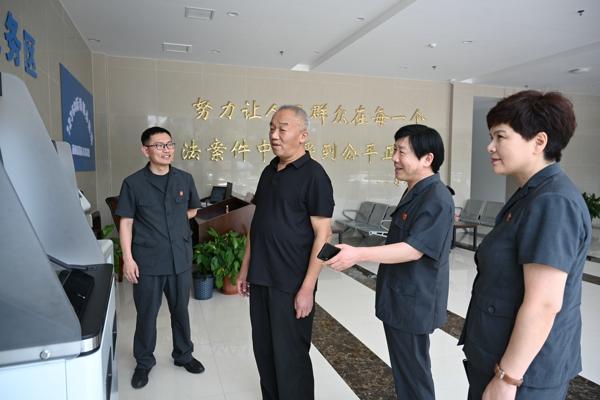 南阳中院刘鹏副院长到高新区法院督查重点工作