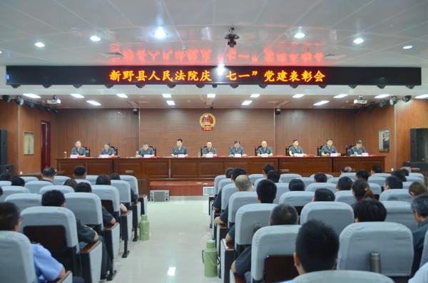"""新野法院:开展""""庆七一""""系列活动"""