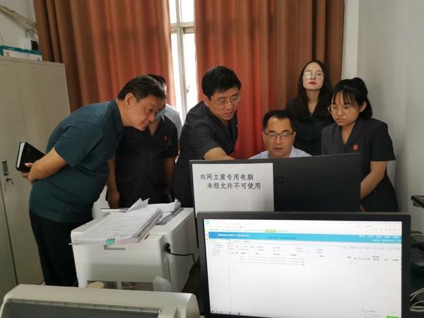 南阳中院秦德平院长到唐河县法院调研指导工作