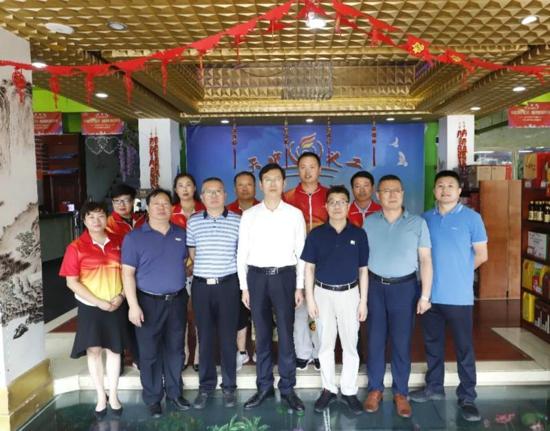 河南省新能源商会国际合作委员会来天中义工联合会调研