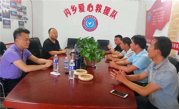 内乡县领导检查指导城关镇防汛工作