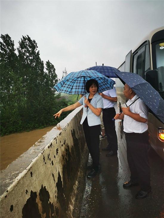 驻马店市委统战部长姚新文到遂平县督导检查防汛工作