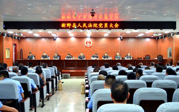 新野县法院机关党委召开换届选举大会