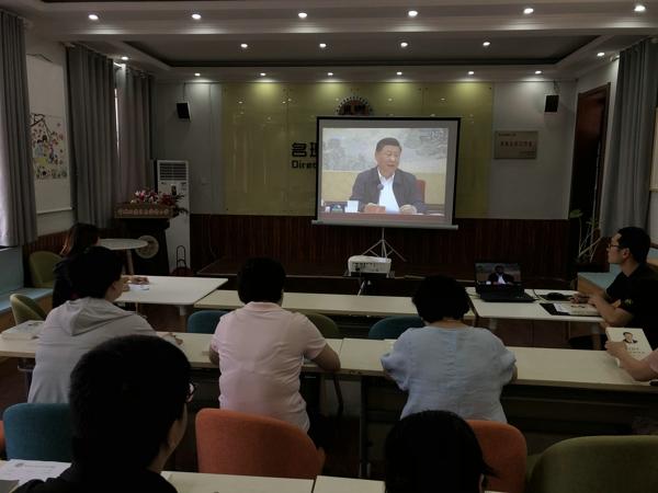 郑州管城区南学街小学党支部开展八月份4+X主题党日活动