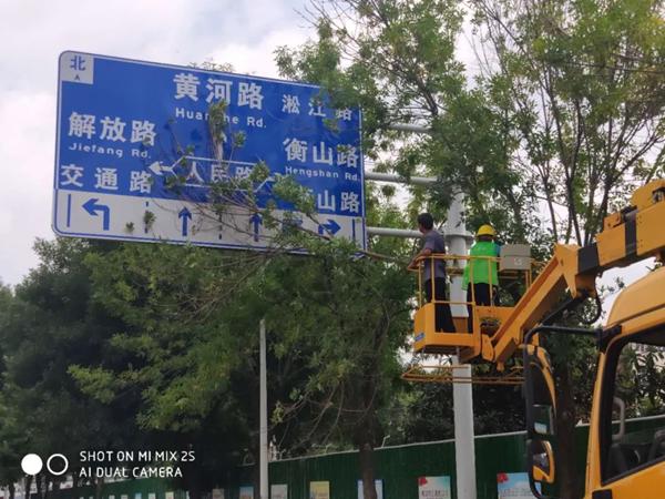 """漯河:酷暑中对市区树木""""整形梳妆""""扮靓城市"""
