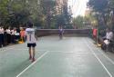 郑州市石佛办事处党工委育林社区党支部举办羽毛球赛