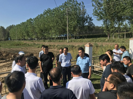 西平县农业农村局一行到遂平县石寨铺镇交流户厕改造经验