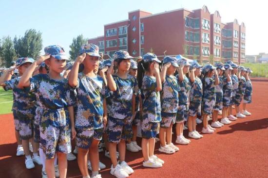 挑战自我 风华少年 开封祥符区第二实验小学举行军训汇报展演