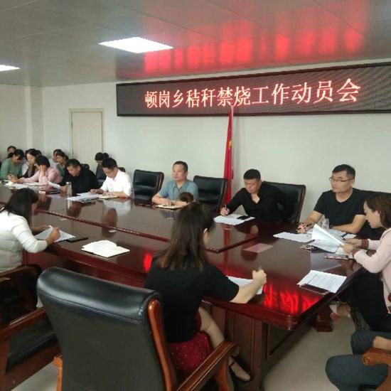 新蔡县顿岗乡召开秸秆禁烧和综合利用工作动员会