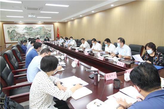 省委统战部领导班子理论学习中心组进行集中学习研讨