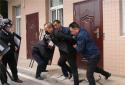 社旗县公安局组织开展重点单位反恐演练活动