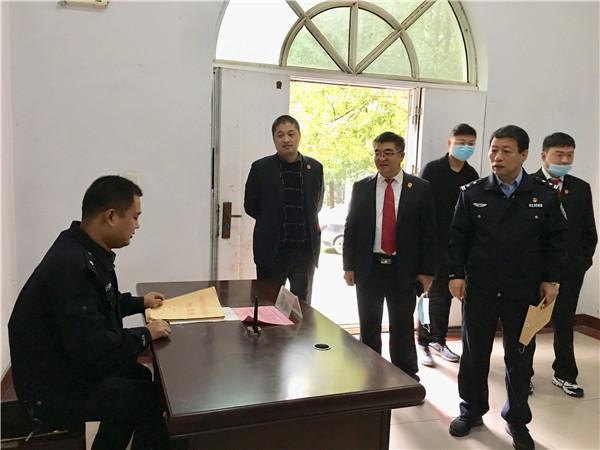 南阳卧龙区法院对派出法庭秋冬季安保工作进行检查指导