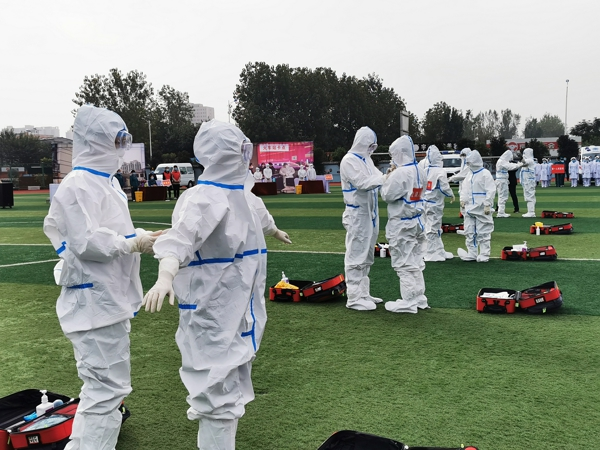 驻马店市驿城区举行2020年新冠肺炎疫情防控应急演练活动
