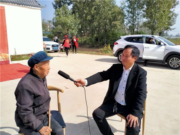 """社旗李店镇举行""""九九重阳节 浓浓敬老情""""慰问活动"""