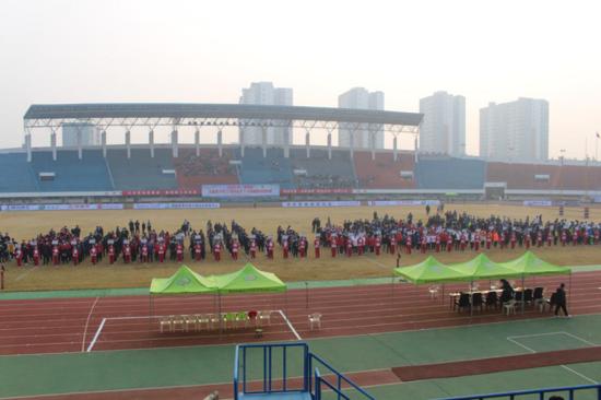 """2020年""""漯河杯""""全国青少年U系列英式七人制橄榄球冠军赛开幕式在漯河市体育中心隆重举行"""
